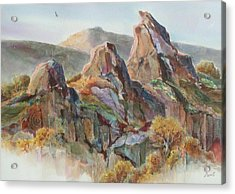 Three Sisters Acrylic Print by Don Trout
