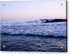Acrylic Print featuring the photograph Three Waves by Lyle Crump