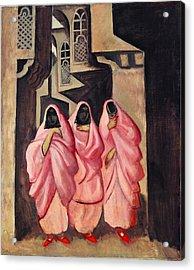 Three Women On The Street Of Baghdad Acrylic Print
