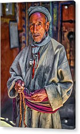 Tibetan Refugee - Paint Acrylic Print by Steve Harrington