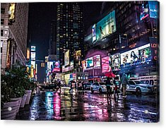 Times Square Nyc Acrylic Print by Martin Newman