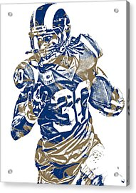 Todd Gurley Los Angeles Rams Pixel Art 22 Acrylic Print