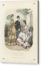 Toilettes De Mme Breant-castel. Acrylic Print by Celestial Images