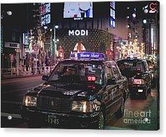 Tokyo Taxis, Japan Acrylic Print