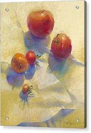 Tomato Blues Acrylic Print by Cathy Locke