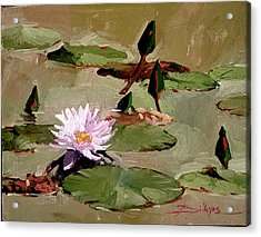 Tomorrow's Blooms- Water Lilies Acrylic Print