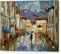 Tourists Acrylic Print by Debra Hurd