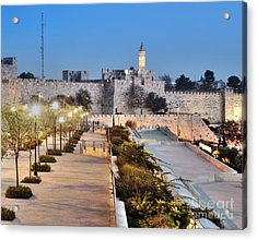 Tower Of David Acrylic Print by Noam Armonn