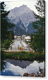 Town Of Banff Acrylic Print by Shirley Sirois
