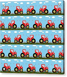 Toy Tractor Pattern Acrylic Print