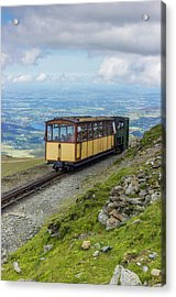 Acrylic Print featuring the photograph Train To Snowdon by Ian Mitchell
