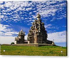Transfiguration Cathedral On Kizhi Acrylic Print by Axiom Photographic
