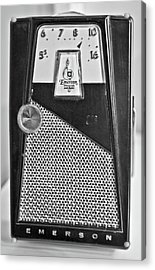 Acrylic Print featuring the photograph Transistor Radio Blown Up by Matthew Bamberg