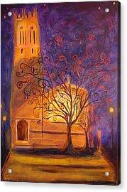 Tree In Ghent Acrylic Print by Lauren Mooney Bear