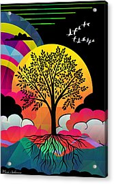 Tree Acrylic Print by Mark Ashkenazi