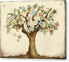 Tree Of Life And Love Acrylic Print
