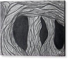 Trees Acrylic Print by Marsha Ferguson