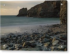 Acrylic Print featuring the photograph Trevellas Cove by Brian Roscorla