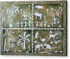 Tribal Art Acrylic Print by Geeta Biswas