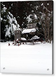 Acrylic Print featuring the photograph Tricia's Sleigh by Joel Deutsch