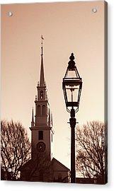 Trinity Church Newport With Lamp Acrylic Print