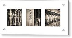 Triptych - Frank Lloyd Wright Acrylic Print by Niels Nielsen