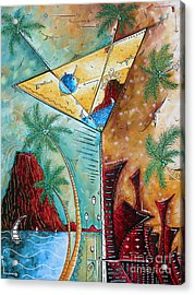 Tropical Martini Original Painting Fun Pop Art Style By Megan Duncanson Acrylic Print