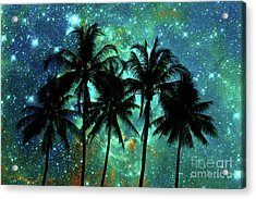 Tropical Night Acrylic Print by Delphimages Photo Creations