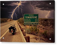 Trouble In Tombstone Acrylic Print