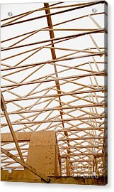 Trusses In Home Under Construction Acrylic Print