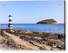 Trwyn Du Lighthouse - Wales Acrylic Print by Joana Kruse