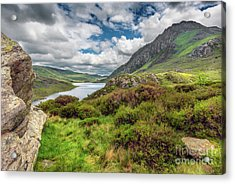 Tryfan And Ogwen Lake Acrylic Print by Adrian Evans