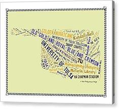 Tu Word Art University Of Tulsa Acrylic Print