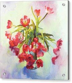 Tulip Fling Acrylic Print by Cathy Locke