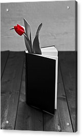 Tulip In A Book Acrylic Print by Joana Kruse