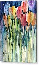 Tulips Acrylic Print by Natalia Eremeyeva Duarte