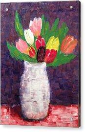 Tulips Acrylic Print by Tamara Savchenko