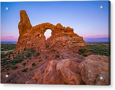 Turret Arch Sunrise Acrylic Print by Darren White