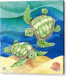 Turtle Friend Acrylic Print by Paul Brent