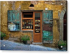 Tuscany Wine Shop 2 Acrylic Print
