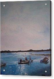 Twilight Tide Acrylic Print by Karen Thompson