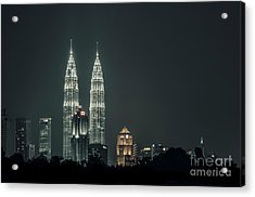 Acrylic Print featuring the photograph Twin Towers by Charuhas Images