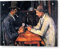 Two Card Players Acrylic Print by Paul Cezanne
