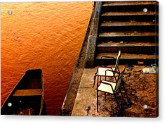 Two Chairs By The Stairs Acrylic Print