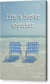 Two Empty Beach Chairs Acrylic Print