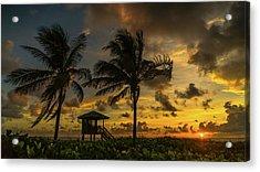 Two Palm Sunrise Delray Beach Florida Acrylic Print