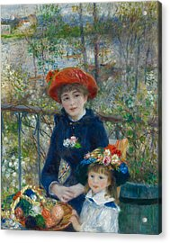 Two Sisters On The Terrace Acrylic Print by Auguste Renoir