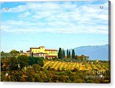 Typical Tuscan Hill Acrylic Print by Antonio Gravante