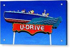 U-drive Acrylic Print