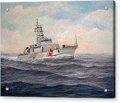 U. S. Coast Guard Cutter Monsoon Acrylic Print by William H RaVell III